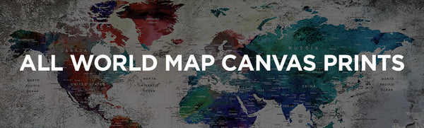 All World Map Canvas