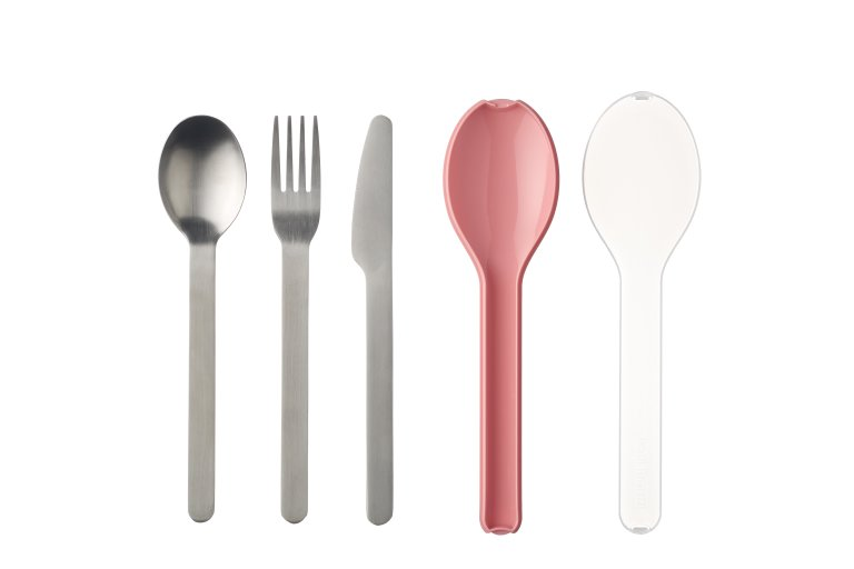Cutlery 3 piece Ellipse - Nordic Pink