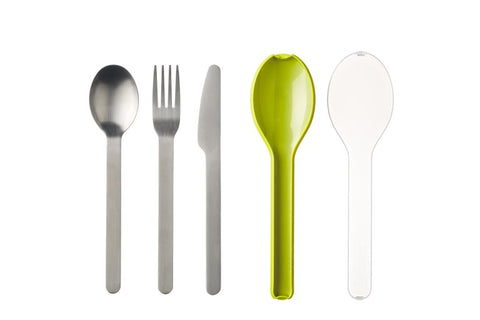 Cutlery 3 piece Ellipse - Lime