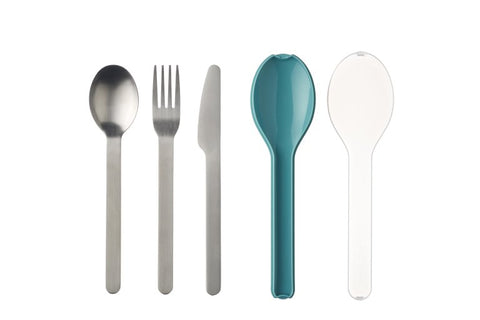 Cutlery 3 piece Ellipse - Nordic Green