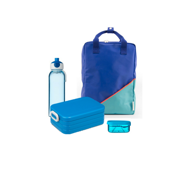 Offer - Sticky Lemon Backpack, bento & water bottle - Ink blue/Retro Mint