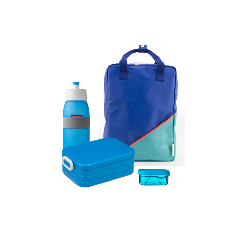 Offer - Sticky Lemon Backpack, bento & sports bottle - Ink blue/Retro Mint