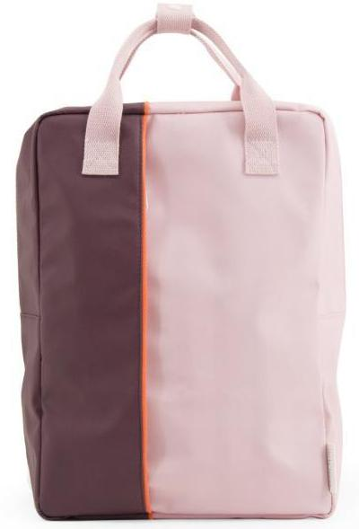 Large backpack vertical - blossom pink / eggplant