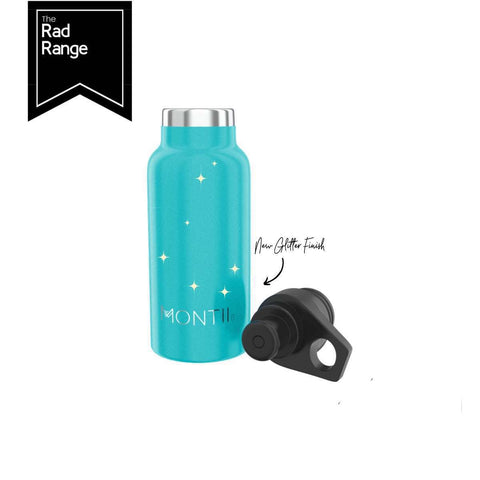 MONTIICO MINI DRINK BOTTLE - AQUA GLITTER