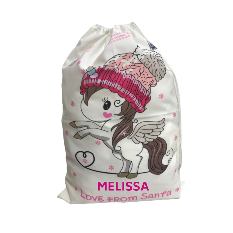 Personalised Christmas Sack - Unicorn
