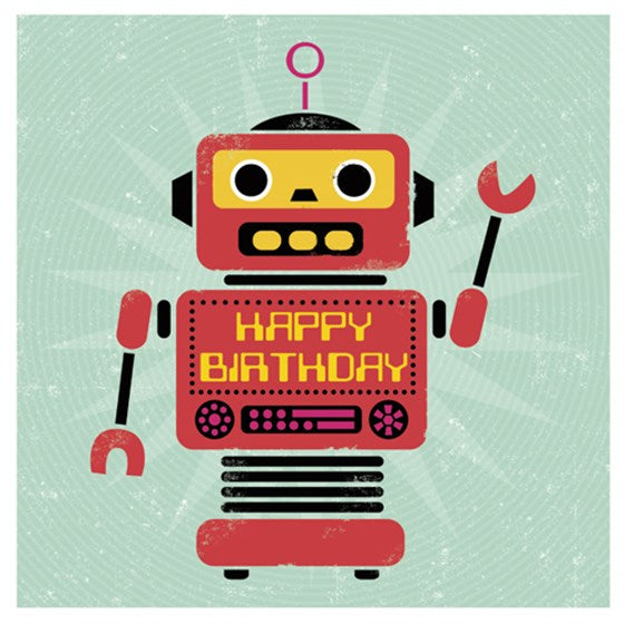 Birthday card - Robot