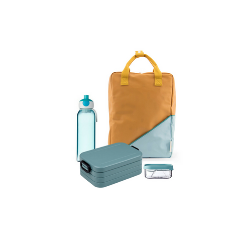 Offer - Sticky Lemon Backpack, bento & water bottle - Fudge/Nordic Green