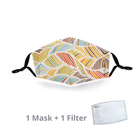 Stylish Re-usable Kids' Face Mask - Leaves