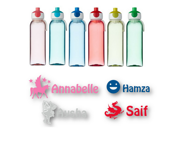 Water bottles personalised by us!