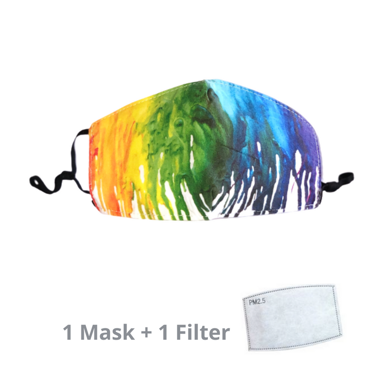 Stylish Re-usable Kids' Face Mask - Paintdrip