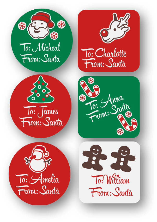 Colors Christmas.Christmas Gift Labels Colors