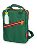 Backpack small 'Zipper Green'