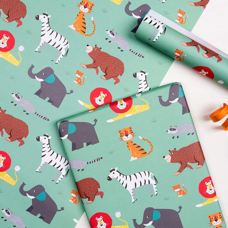 Animal Park Wrapping Paper