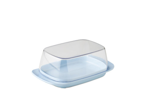 Butter dish - retro blue