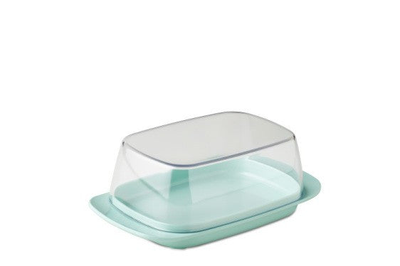 Butter dish - retro green