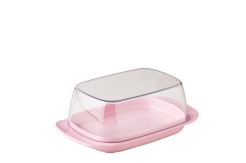 Butter dish - retro pink