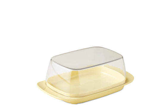Butter dish - retro yellow