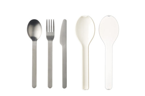 Cutlery 3 piece Ellipse - White
