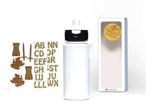 DIY Dragons - Popup water bottle white - 275ml