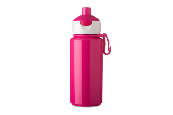 Popup water bottle pink - 275ml