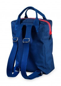Backpack large 'Zipper Dark Blue'