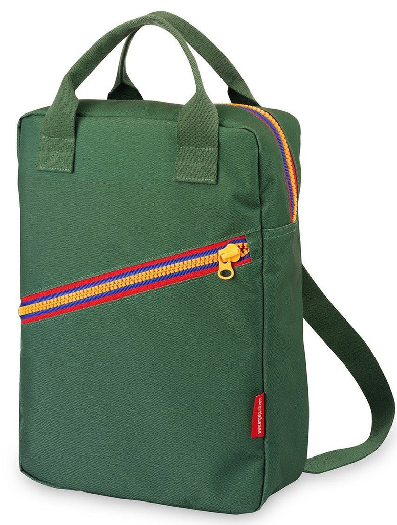 Backpack large 'Zipper Green'