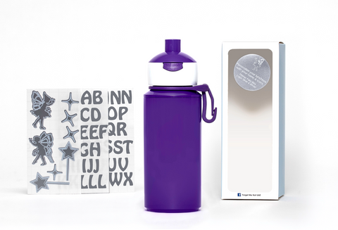 DIY Fairies- Popup water bottle purple - 275ml