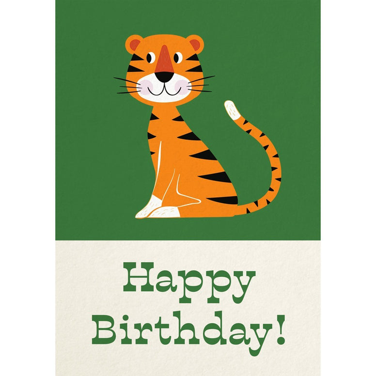 Birthday card - Tiger