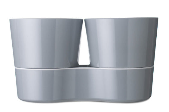 Hydro Herb Twin Pot - Grey