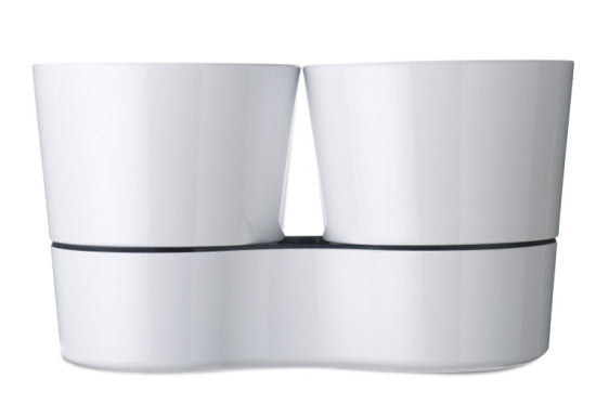 Hydro Herb Twin Pot - White