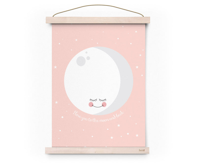 POSTER – I LOVE YOU TO THE MOON AND BACK – PINK