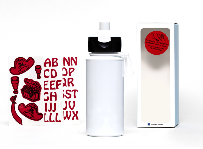 DIY Pirates- Popup water bottle white - 275ml