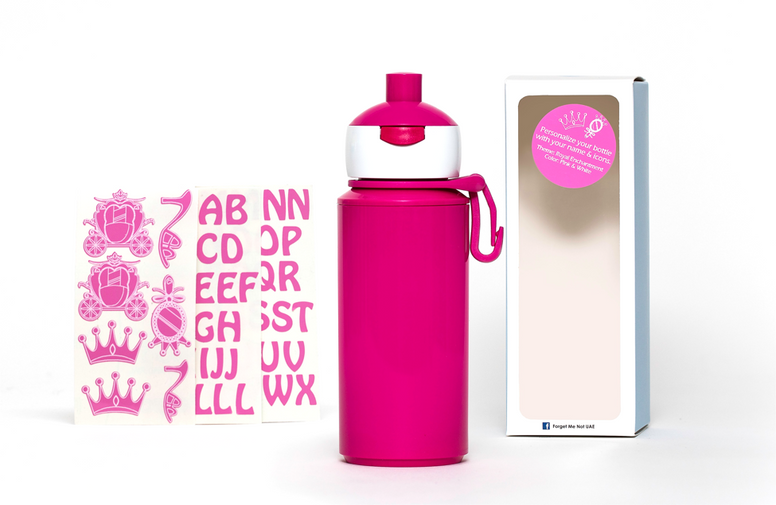 DIY Princess - Popup water bottle pink - 275ml