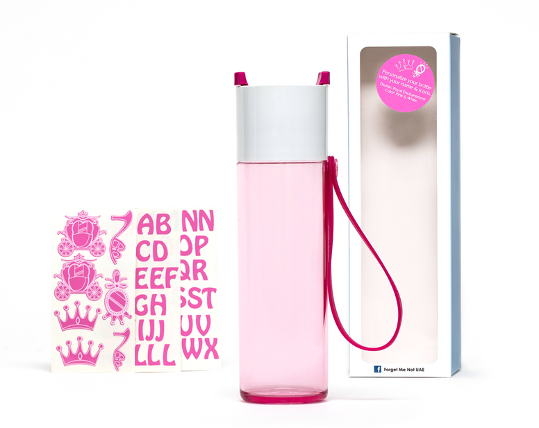 DIY Princess - Just water bottle pink - 500ml