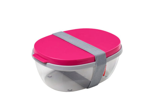 Salad Box Ellipse - Pink