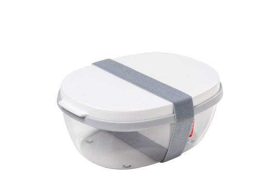 Salad Box Ellipse - White