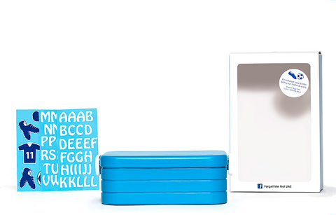 DIY Soccer - Lunchbox with divider - blue