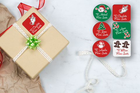 Christmas Gift Labels - Colors