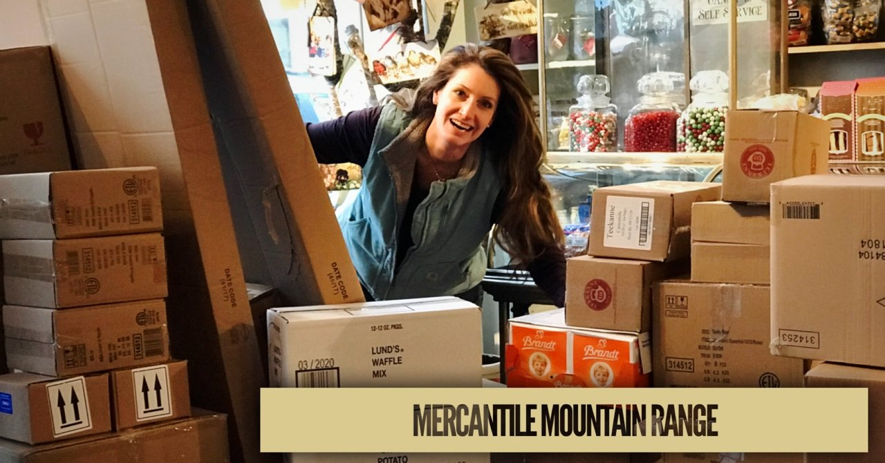 Mountains of boxes at the Mercantile | Golden Gait Mercantile