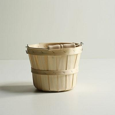 1/4 Peck Basket Natural with Handle