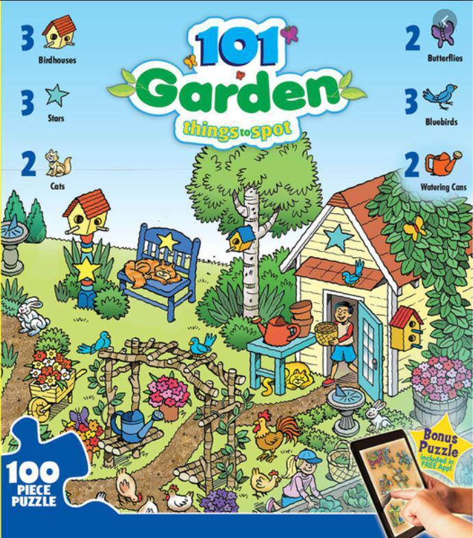 101 Things to Spot in the Garden 100 Piece Puzzle by Masterpieces Puzzle Co.
