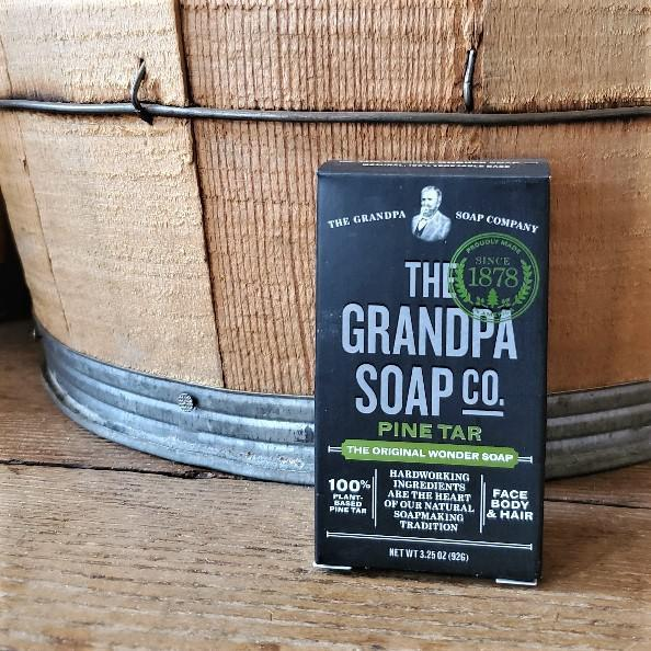 Pine Tar Soap by Grandpa Soap Company 3.25 oz