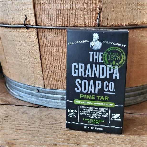 Pine Tar Soap by Grandpa Soap Company 4.25 oz