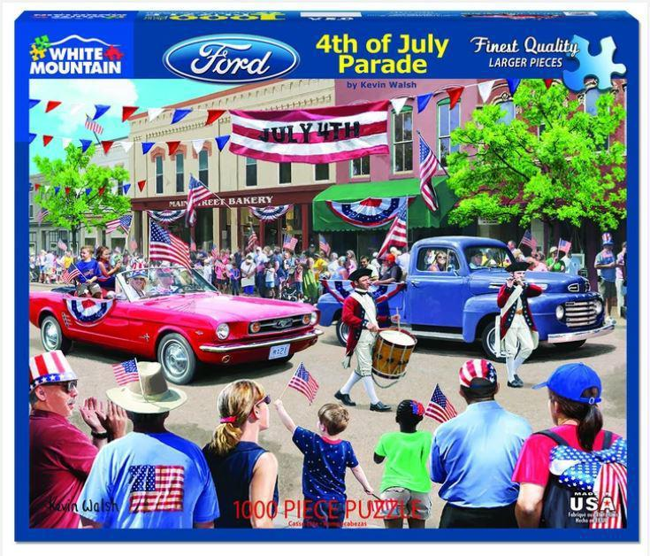 4th of July Parade 1000 Piece Jigsaw Puzzle by White Mountain Puzzle