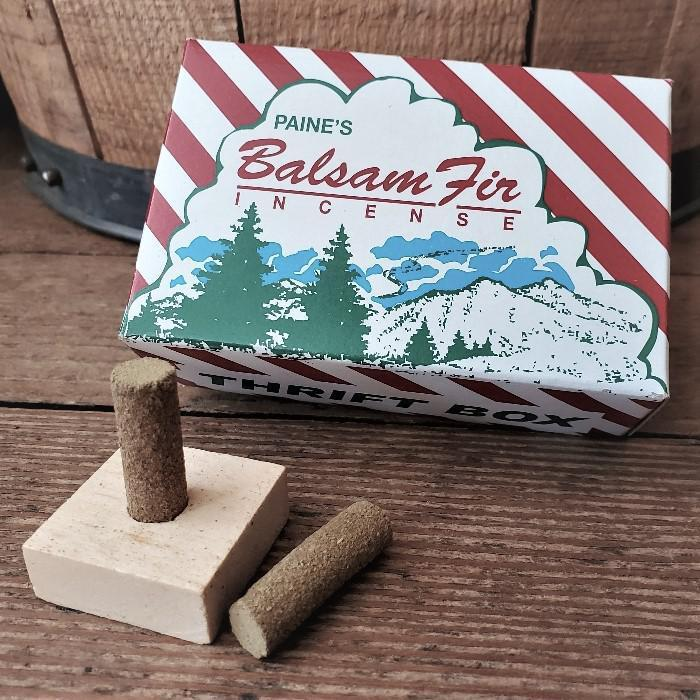 Balsam Fir Incense with holder by Paine's 50 Count - Thrift Box