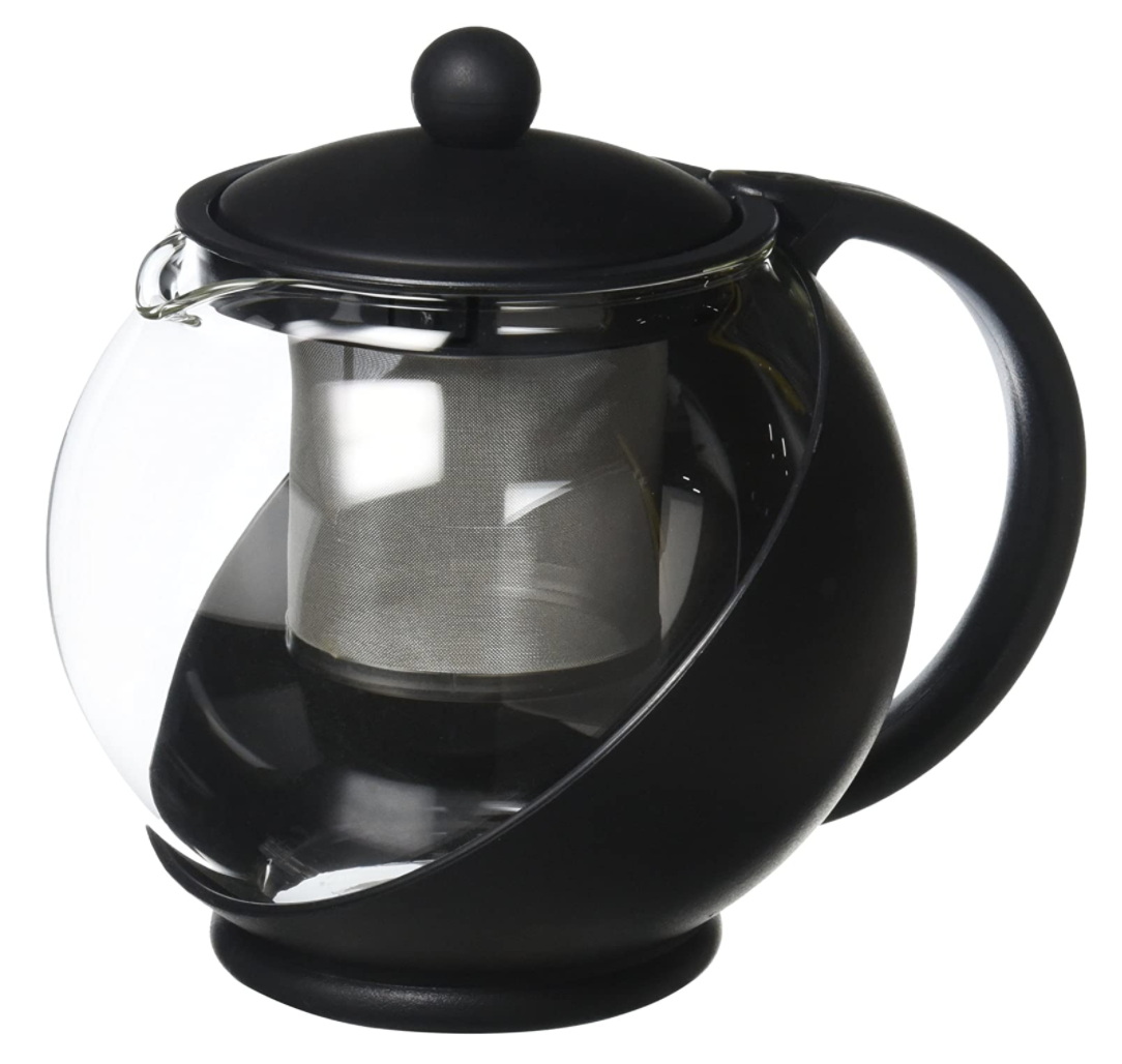 6 Cup Eclipse Glass Black Teapot with Infuser by NorPro