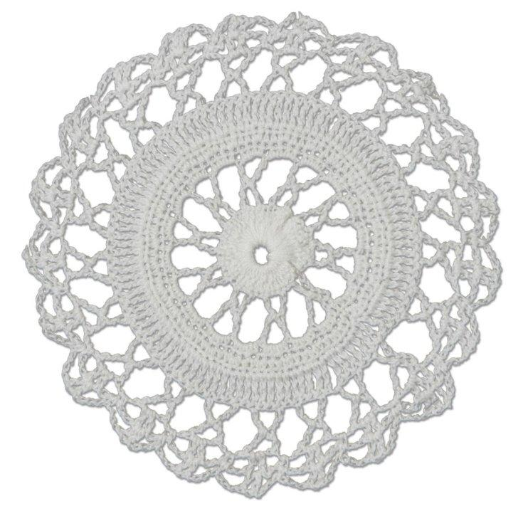 "Crochet Envy Lacey Doily 6"" Round / White"