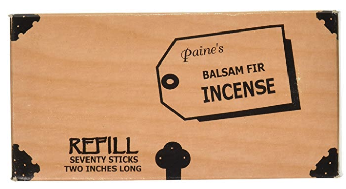 Balsam Fir Incense with holder by Paine's 70 Count - Refill Sticks