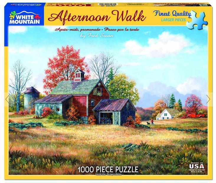 Afternoon Walk 1000 Piece Jigsaw Puzzle by White Mountain Puzzle