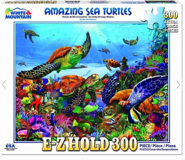 Amazing Sea Turtles 300 Piece EZ_HOLD Jigsaw Puzzle by White Mountain Puzzle